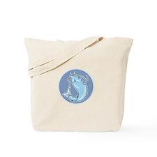 Catfish Jumping Circle Cartoon Tote Bag