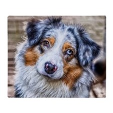 Australian Shepherd Throw Blanket