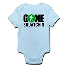 Gone Squatchin Black/Green Logo Body Suit