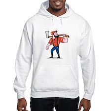 LumberJack Holding Axe Cartoon Hoodie