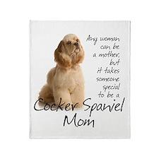 Cocker Mom Throw Blanket