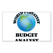 World's Greatest Budget Analyst Decal