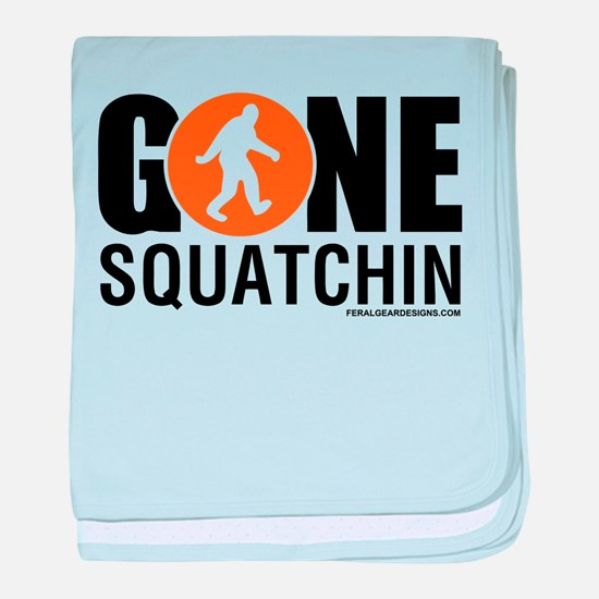Cute Squatchin baby blanket