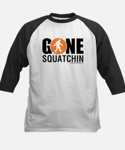 Gone Squatchin Black/Orange Logo Baseball Jersey