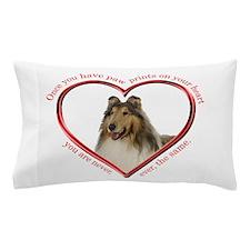 Collie Paw Prints Pillow Case