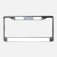 RUSK University License Plate Frame