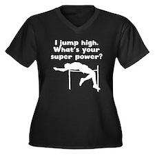 I Jump High Super Power Plus Size T-Shirt