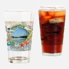 Pier Beach Collage Drinking Glass