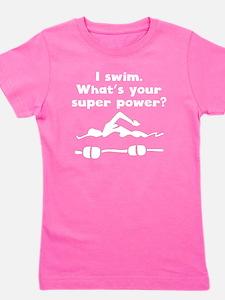 I Swim Super Power Girl's Tee