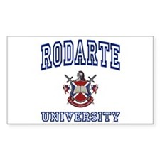 RODARTE University Rectangle Decal