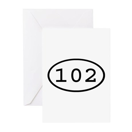 102 Oval Greeting Cards (Pk of 10)