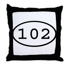 102 Oval Throw Pillow
