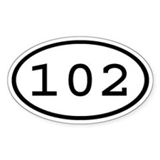 102 Oval Oval Decal