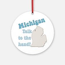 Michigan State Ornament (Round)