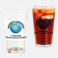 Cute Consumerism Drinking Glass