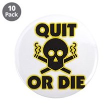 "Funny Stop smoking 3.5"" Button (10 pack)"