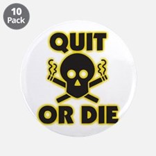 """Cute Stop smoking 3.5"""" Button (10 pack)"""