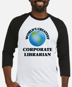 World's Greatest Corporate Librarian Baseball Jers