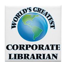 Cute Course librarian Tile Coaster
