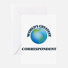 World's Greatest Correspondent Greeting Cards