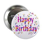 Happy Birthday Confetti Button