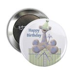 Happy Birthday Giraffe Button