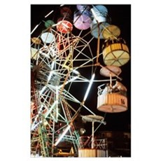 Ferris Wheel At Fairground Poster
