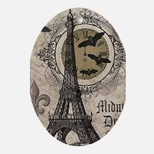 Modern vintage Halloween Eiffel Tower Ornament (Ov