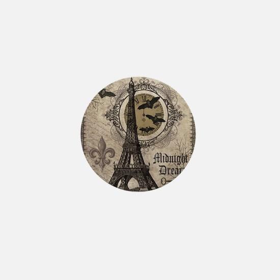 Modern vintage Halloween Eiffel Tower Mini Button