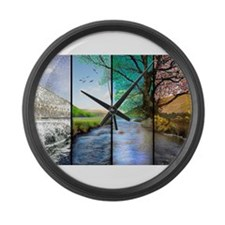 as time goes by Large Wall Clock