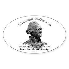 Thomas Jefferson 05 Oval Decal