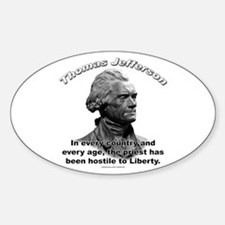 Thomas Jefferson 05 Oval Decal