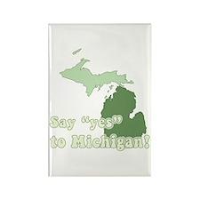 Vintage Michigan Rectangle Magnet (10 pack)