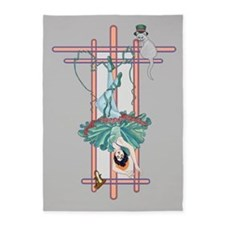 Tarot Hanged Woman 5'x7'Area Rug