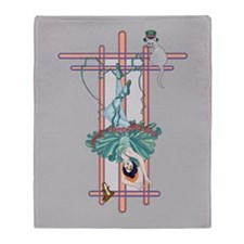 Tarot Hanged Woman Throw Blanket