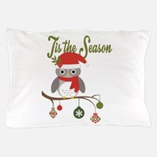 modern trends holiday owl Pillow Case