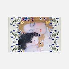 Klimt Art Deco Mother Child Magnets