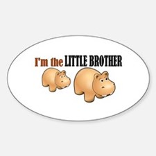 Little Brother (Hungry Hippo) Oval Decal