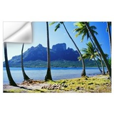 French Polynesia, Tahiti, Bora Bora Coast With Pal Wall Decal