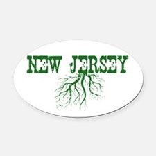 New Jersey Roots Oval Car Magnet