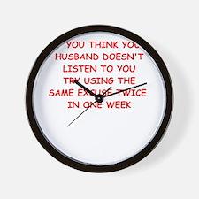 excuse Wall Clock