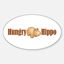 Hungry Hippo Oval Decal