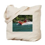 Jet Boat Making Wake Tote Bag