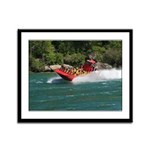 Jet Boat Making Wake Framed Panel Print