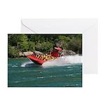 Jet Boat Making Wake Greeting Cards (Pk of 10)