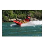 Jet Boat Making Wake Postcards (Package of 8)