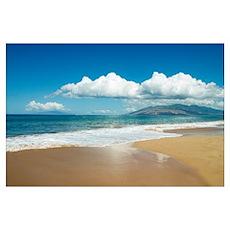 Hawaii, Maui, Kihei, Ocean And Sand, West Maui Mou Poster