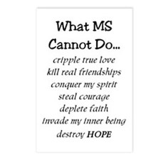 What Ms Cannot Do Postcards (package Of 8)