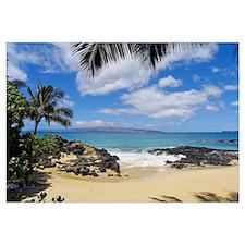 Hawaii, Maui, Makena, View From Secret Beach Of Ka