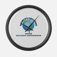 Cute Higher education administrators Large Wall Clock